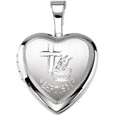 Baptismal Heart Locket