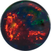 Round Lab Created Cabochon Black Opal