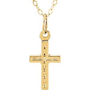 14K Yellow Cross 15