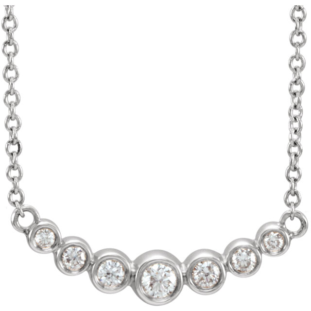 14K White 1/5 CTW Diamond 16-18