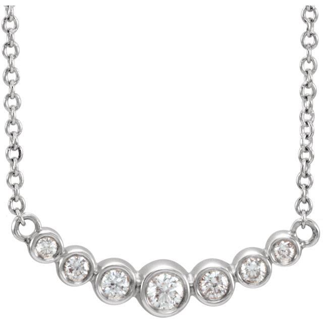 14K White 1/5 CTW Diamond 16-18