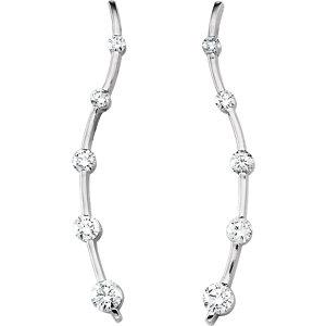 Earrings , 18K Yellow 1 CTW Diamond Journey Earrings