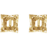 Square 4-Prong Lace-Style Earrings