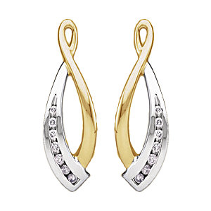 Earring Jackets, 14K Two-Tone 1/5 CTW Diamond Earring Jackets