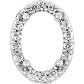 Oval 4-Prong Halo-Style Pierced Gallery Setting