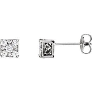 Earrings , 14K White 5/8 CTW Diamond Stud Earrings