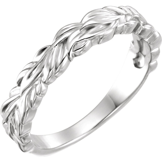 Sterling Silver Stackable Leaf Ring