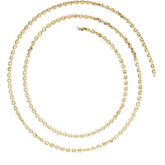 1.75mm Solid Cable Diamond Cut Chain