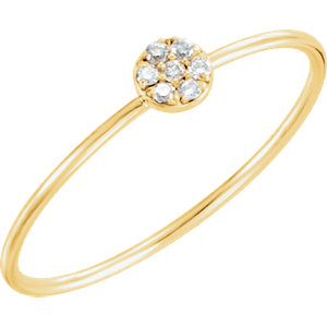 14K Yellow .04 CTW Diamond Petite Circle Ring