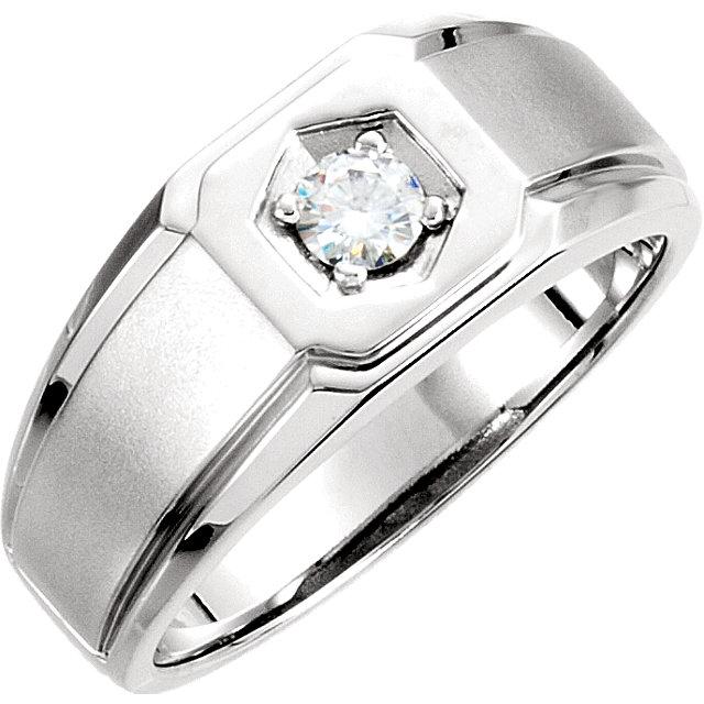 Charles & Colvard Moissanite® Men-s Solitaire Ring