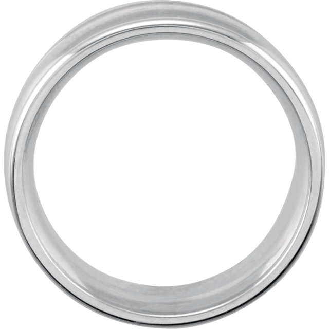 Sterling Silver 8mm Design Band Size 9