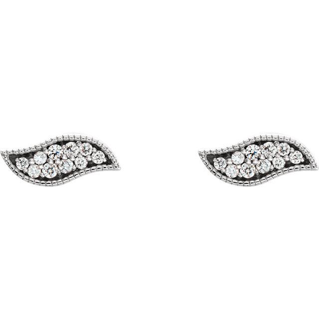 Sterling Silver .07 CTW Diamond Earrings