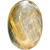 Oval Genuine Rutilated Quartz