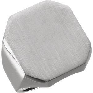 Fashion Rings , Platinum 22x20mm Men's Signet Ring