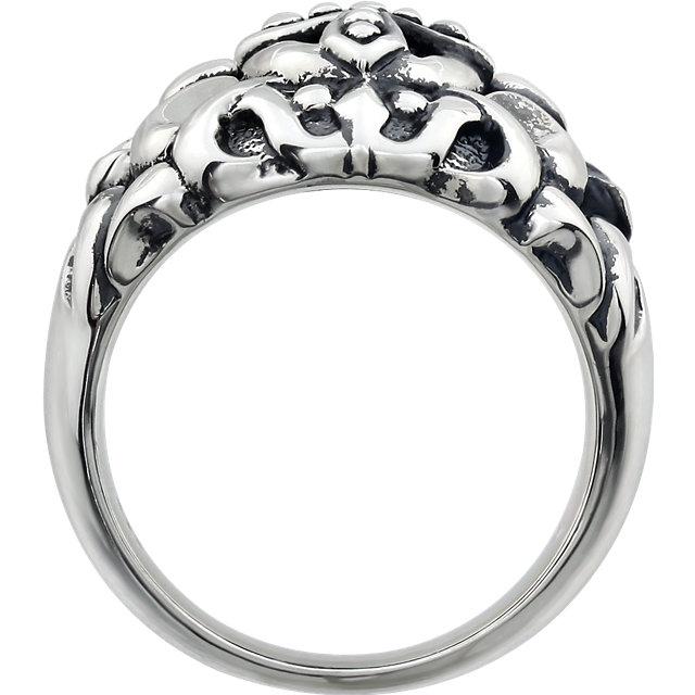 Sterling Silver Men-s Cross Fashion Ring