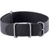 NATO® Black Leather Watchbands