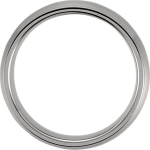 Titanium 7mm Grooved & Satin Finish Band Size 9