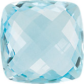 Antique Square Genuine Sky Blue Topaz