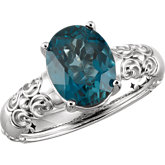 London Blue Topaz Sculptural-Inspired Ring