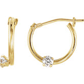 Accented Youth Hoop Earrings