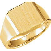 Men's Closed Back Signet Ring