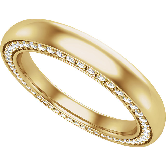 14K Yellow 3 mm 1/2 CTW Diamond Accented Band Size 7