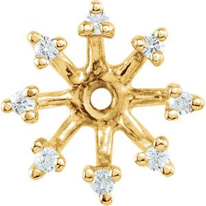 Earring Jackets, 14K Yellow 1/6 CTW Diamond Earring Jackets