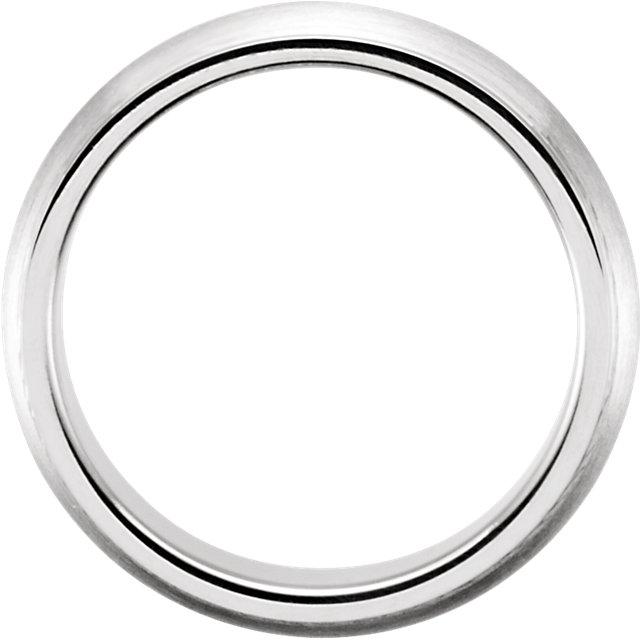 14K White 5 mm Design Band Size 7