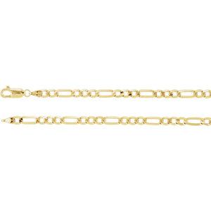 Bracelet, 14K Yellow 4mm Figaro 8