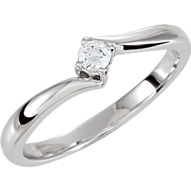 Sterling Silver Cubic Zirconia Ring Size 7