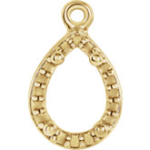Pear 4-Prong Halo-Style Dangle