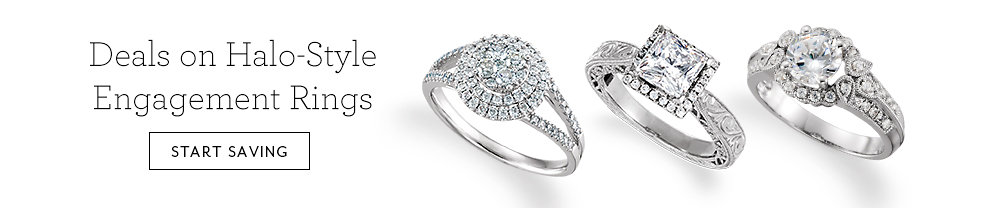 Deals on Halo-Style Engagement Rings