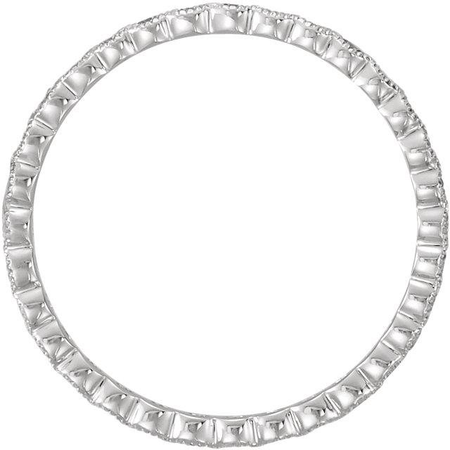 Platinum 5/8 CTW Diamond Eternity Band Size 6.5