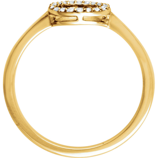 14K Yellow 1/10 CTW Diamond Circle Ring