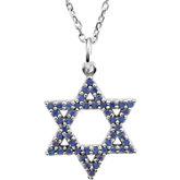 Accented Star of David Pendant