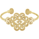 Accented Granulated Cuff Bracelet