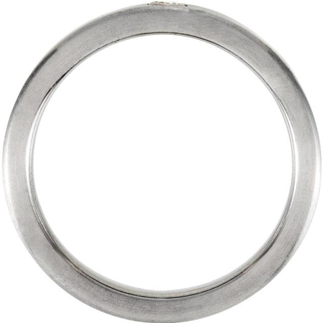 Titanium .03 CTW Diamond  6 mm Band Size 7