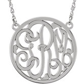 25mm 3-Letter Script Monogram Necklace