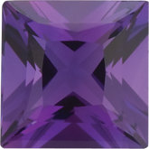 Square Genuine Amethyst