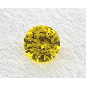 Sapphire Round 1.02 carat Yellow Photo