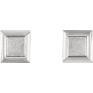 Sterling Silver Square Petite Earrings