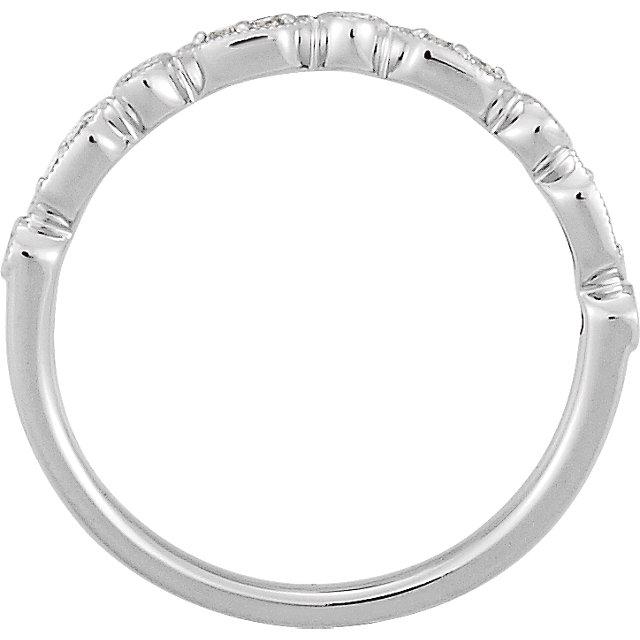 14K White 1/8 CTW Diamond Ring Size 7