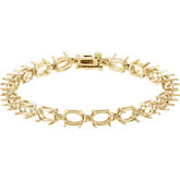 Oval Line Bracelet Mounting or Links