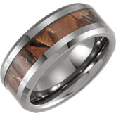 Beveled Edge Band with Acacia Wood Inlay