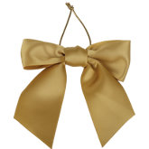 Satin Bow with Elastic Stretch Loop