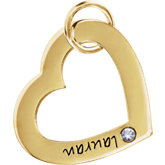 Posh Mommy® Small Engravable Heart Loop Pendant