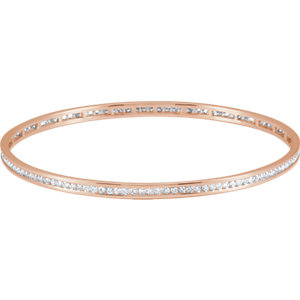 Bracelet, Diamond Stackable Bangle Bracelet