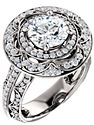 14K White 7.4mm Round 5/8 CTW Diamond Semi-mount Engagement Ring
