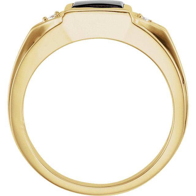 Men-s Onyx & Diamond Ring