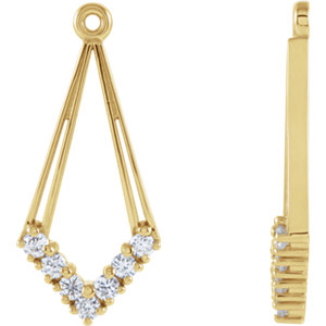 Earring Jackets, 14K Yellow 1/4 CTW Diamond Earring Jackets